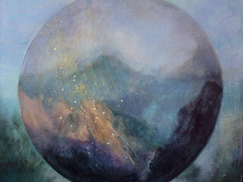 Susie Dureau - Painting - Mountains Observatory