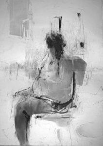 Danuta Tojka - drawing - Krystyna