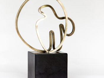 Gidon Bing - brass sculpture - Aegean Bird