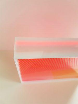 Kate Banazi - Thropugh the Sqaure Window 131 - Screenprinting on Perspex