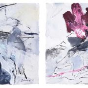 Amanda Schunker - Cool Storms Coming 1 - painting - mixed media