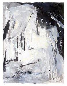 Amanda Schunker - Picos Precipice - painting - mixed media