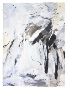 Amanda Schunker - Picos Precipice - painting - mixed media