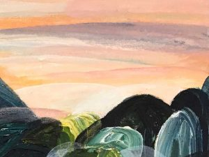 Ingrid Daniell - Painting - Memories of Love Lake Arragan Yuraygir