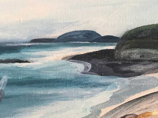 Ingrid Daniell - Painting - Pretty Beach Murramarang