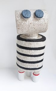 Dear Human - paper sculpture - New Friend with Stripes