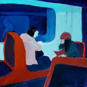 Maria Kostareva - In the Lisbon Subway - Painting