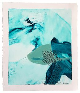 Amanda Schunker - Frozen Desert Water 4 - mixed media painting