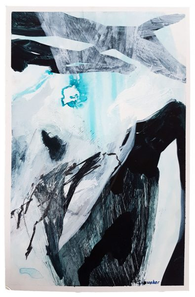 Amanda Schunker - Frozen Desert Ice 2 - mixed media painting