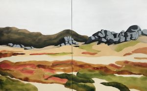Peta Morris - A Blanket of Mountain Gums - painting