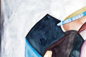 Isabelle de Kleine - In Stillness - painting on paper