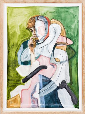 Isabelle de Kleine - In-xcess - painting on paper