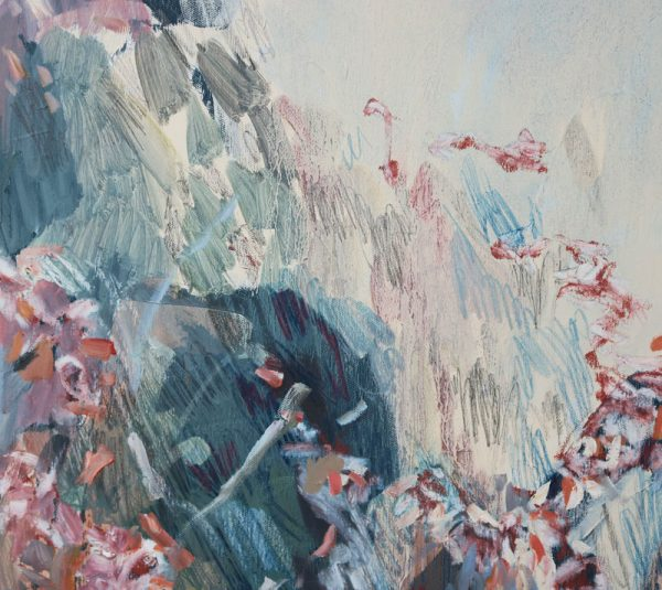 Amy Wright - Bel and Micks Flowering Gum - landscape painting