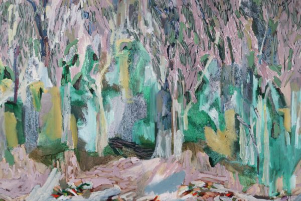 Amy Wright - Silver Gums in the Blue Haze - landscape painting