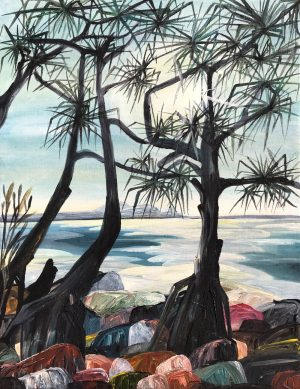 Ingrid Daniell - Blinded by the Light - Noosa landscape painting