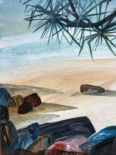 Ingrid Daniell - Waiting in Hope for Paradise - Noosa landscape painting