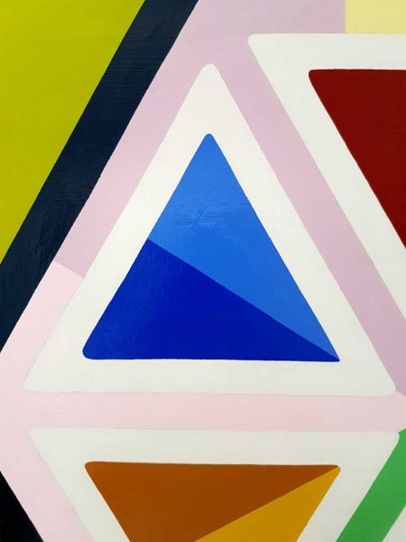 Jasmine Mansbridge - Colour Can't Lie - Geometric painting