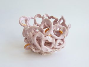 Bettina Willner-Browne - Anemone Sculpture Pink - sculpture