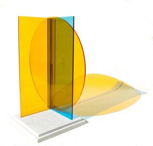 Kate Banazi - Interactions 14 - Acrylic panel sculpture