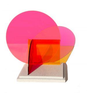 Kate Banazi - Interactions 16 - Acrylic panel sculpture