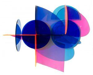Kate Banazi - Colour Flood 2 - Acrylic wall sculpture