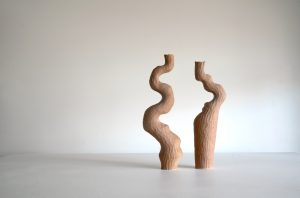 Kerryn Levy - Asymmetry Pair 19.59 / 19.55 - Ceramic Sculptures