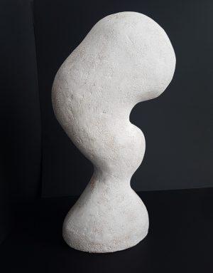 Katarina Wells - In Between White 1 Katarina Wells - Curvaceous - Ceramic Sculpture