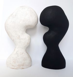 Katarina Wells - In Between White 1 - Ceramic Sculpture
