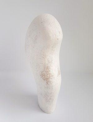 Katarina Wells - In Between White 2 - Ceramic Sculpture