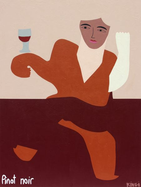 Amber Kingi - Margot and Pinot Noir - painting