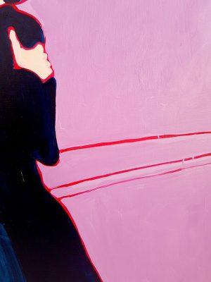 Maria Kostareva - The Kiss - painting
