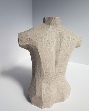 Kristiina Hataaja - Male Torso - Ceramic Sculpture