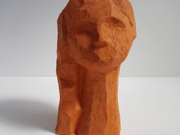 Kristiina Haataja - Girl With Hair - Ceramic Sculpture