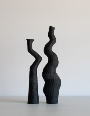 Kerryn Levy - Asymmetry Pair - ceramic sculpture