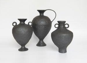 Katarina Wells - Burnt Charcoal Amphora - ceramic vessel