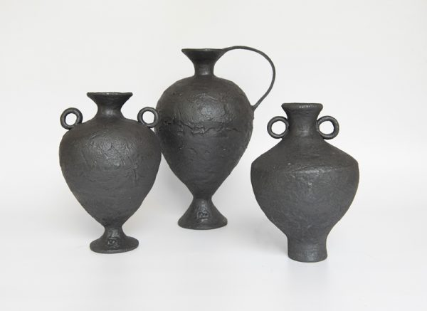 Katarina Wells - Burnt Charcoal Amphora - ceramic vessel