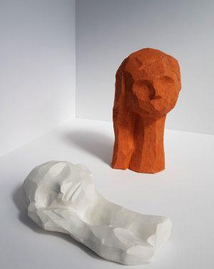 Kristiina Haataja - Girl With Hair - Ceramic Sculpture