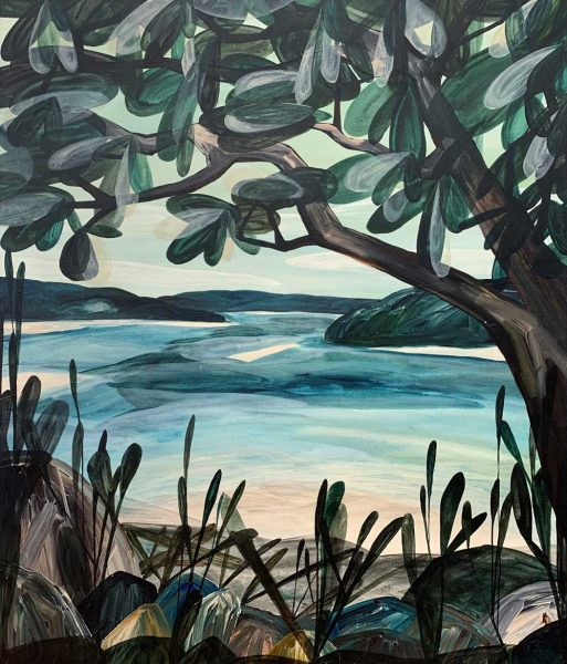Dear, the Days Were Still and the Lagoon a Divine Retreat from the Open Ocean - Ingrid Daniell - Landscape Painting
