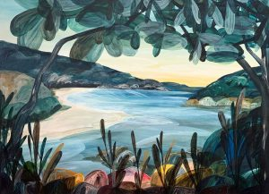 Dear, I Basked on the Hot Granite Rocks as the High Tide Washed the Tea Tree Stain from the River - Ingrid Daniell - Landscape Painting