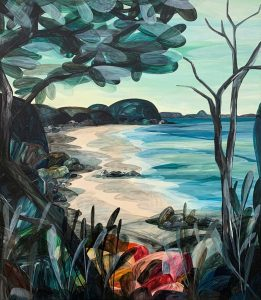 Dear, Low Tide Revealed Shells as Far as the Eye Could See - Ingrid Daniell - Landscape Painting