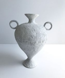Katarina Wells - Chalk Amphora - Ceramic Sculpture