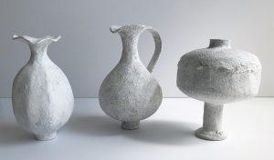 Katarina Wells - Chalk Long Stemmed Vase - Ceramic Sculpture
