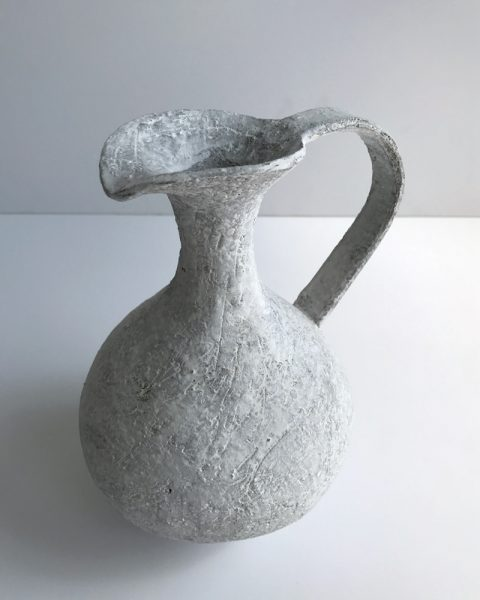 Katarina Wells - Chalk Pitcher - Ceramic Sculpture