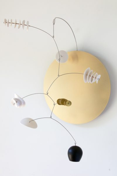 Odette Ireland - Wall Mobile - ceramic and brass sculpture