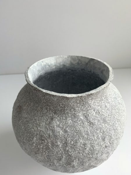 Katarina Wells - Heart Shaped Amphora Chalk - Ceramic Sculpture