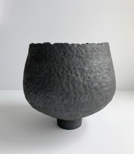 Katarina Wells - Raw Edged Pod - Ceramic Sculpture