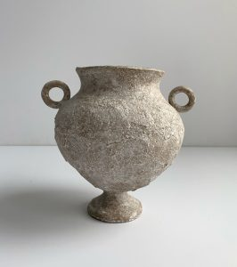 Katarina Wells - Round Handled Amphora Sand - Ceramic Sculpture