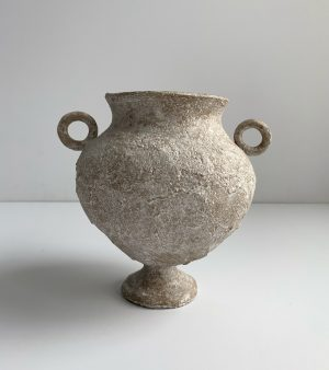 Katarina Wells - Round Handled Amphora Sand - Ceramic Sculpture