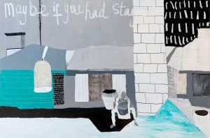 Lily Cummins - Maybe If You Stayed- Mixed Media art