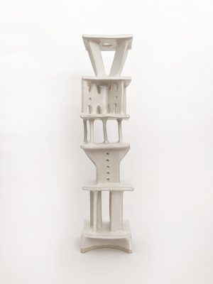 Natalie Rosin - Tower #5 - Ceramic Sculpture